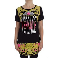 Versace Jeans Black Crew-Neck Graphic T-Shirt