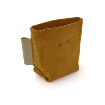 91515 - Iron Worker's Bolt Bag in Heavy Duty Suede Leather
