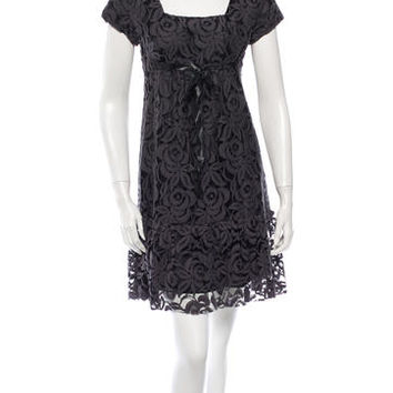 Anna Sui Floral Cutout Dress