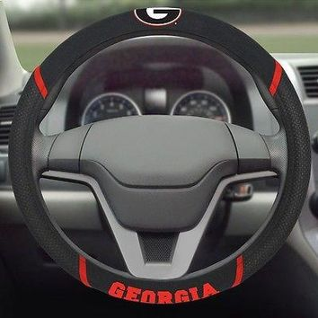 Georgia Bulldogs Embroidered Steering Wheel Cover