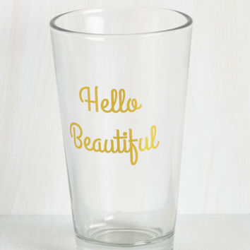 Sayings Smile From Cheers to Cheers Glass by ModCloth