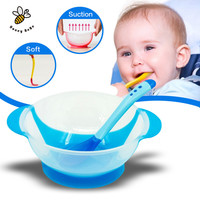 Children's Tableware Baby Learning Dishes With Suction Cup Assist Food Bowl Temperature Sensing Spoon Baby Feeding Bowl