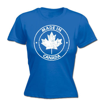 123t USA Women's Made In Canada Funny T-Shirt