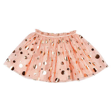 Kardashian Kids Girls' Pink/Gold Dotted Tutu Skirt - Toddler