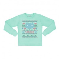 Catbug Faux Pullover Sweatshirt