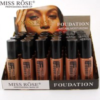 Miss Rose 24pcs/box Face Foundation Makeup Base Liquid Foundations Cream Concealer Whitening Moisturizer Highlight A245