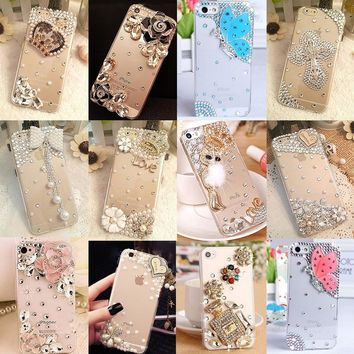 Glitter Rhinestone Case Cover For Samsung galaxy J5 2016 J510,Acrylic DIY Unique Diamond Protective Shiny mobile phone shell