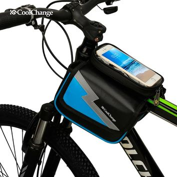 CoolChange Bicycle Frame Front Tube Touch Screen Phone Bag Bike 5.7 inch phone Bag For iPhone 7plus Pannier Cycling Accessories