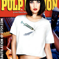 Pulp Fiction Syringe in Heart tee