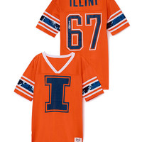 University of Illinois Mesh Bling Boyfriend Jersey