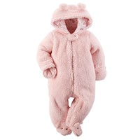 Carter's Baby Bear Sherpa Bunting - Baby Girl, Size: