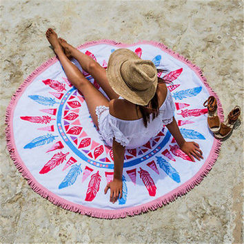 Indian Mandala Round Tapestry Wall Hanging Towel Beach Throw Yoga Mat Boho Decor