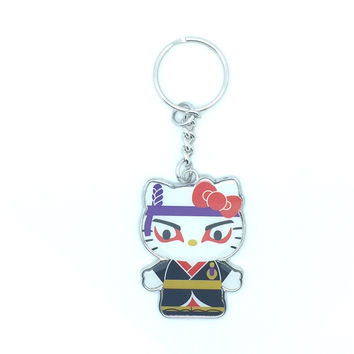 Hello Kitty Samurai Enamel Keychain
