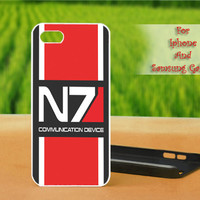 N7 Mass Effect - Print on hard plastic case for iPhone case, Samsung Galaxy case and iPod case. Select an option