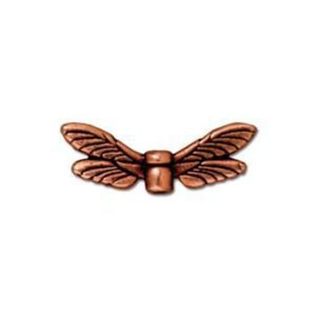 94-5588-18 - TierraCast Antique Copper Pewter Dragonfly Wings | Pkg 2