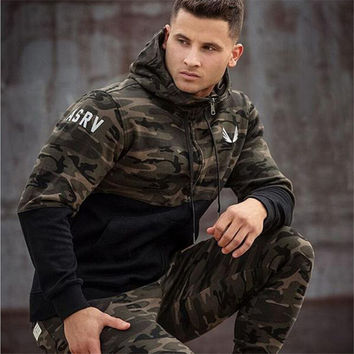 2016 hot mens hip hop  Muscles Brothers RSRV Camouflage Color Hoodies Gymshark Aesthetics Bodybuilding Fitness Leisure Hoodies