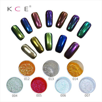 2016NEW.KCE,Nail Art Professional Metal Polish Color Manicure Makeup Mirror Chrome Effect Eye Shadow Pigment Powder With Brush
