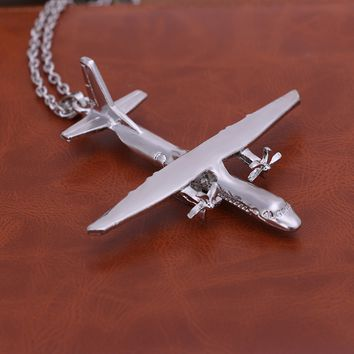 Cool Airplane Pendant Necklace Gift