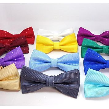 Men's Classic Polka Collection Bow Ties - 12 Colors
