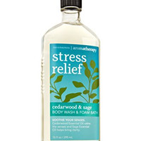 Bath & Body Works Aromatherapy Wash & Foam Bath Cedarwood & Sage Stress Relief