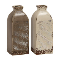 2 Piece Ceramic Vase set (Set of 2)