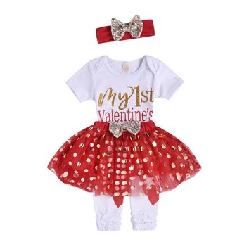 My 1st Valentine's Day 4PC Valentine's Day Outfit