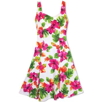 Hoopla White Molokini Hawaiian Dress