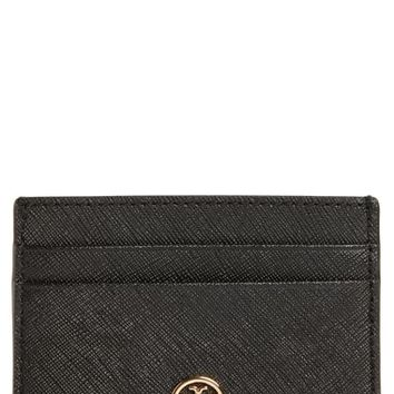 Tory Burch Robinson Leather Card Case | Nordstrom