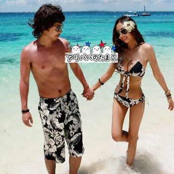 Couple swimsuit pair look swimsuit Lady's from Rakuten.com