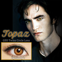 GEO TWINS TOPAZ BROWN Circle Lens Fashion Colored Contacts Enlarging Korean Contact Lenses | EyeCandy's