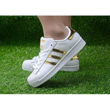 Originals Adidas Superstar Men's Women's Classic Sneaker Sprot Shoes - AQ2871