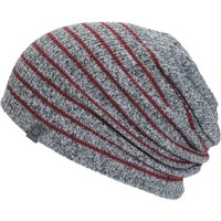 Empyre Juliet Blackberry & Charcoal Stripe Beanie