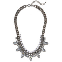 Crystal Fringe Bib | Jeweliq Statement Necklaces