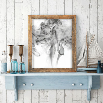 Smoke Print Wall Art Printable Art scalable to 50x70 cm