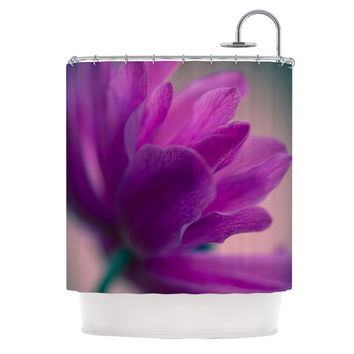 "Ann Barnes ""Standing Ovation"" Purple Flower Shower Curtain"