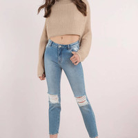ROLLA'S Miller Distressed Skinny Jeans