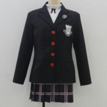 Halloween Dress Persona 5 Makoto Nijima Cosplay Costumes Women School Uniform For Girls