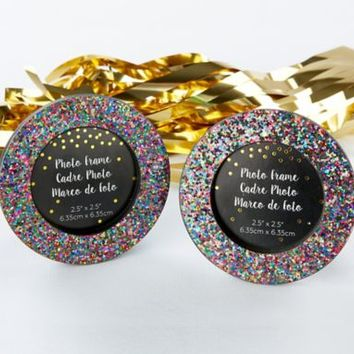 Glitter Rainbow Frame 3 3/4in | Party City