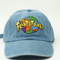 The Flintstones Bedrock Denim Baseball Strapback Dad Hat