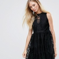 QED London Lace Detail Dress at asos.com