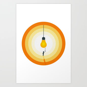 lighthink boy Art Print by elwis