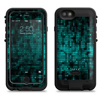The Glowing Digital Green Dots  iPhone 6/6s Plus LifeProof Fre POWER Case Skin Kit