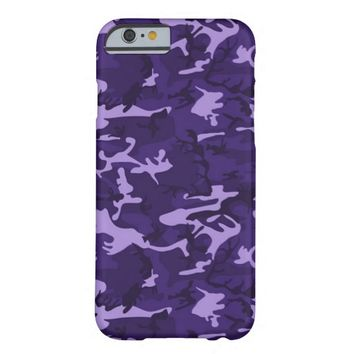 Purple Camouflage Pattern Barely There iPhone 6 Case