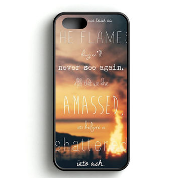 Bastille Lyric on Beach iPhone 4s iPhone 5s iPhone 5c iPhone SE iPhone 6|6s iPhone 6|6s Plus Case