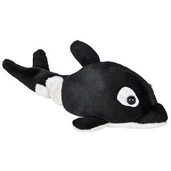 Wildlife Tree 3.5 Inch Orca Killer Whale Mini Small Stuffed Animals Bulk Bundle of Ocean Animal Toys or Sea Party Favors for Kids Pack of 12