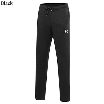 Under Armour winter sports men's plus velvet thick straight straight loose pants Black