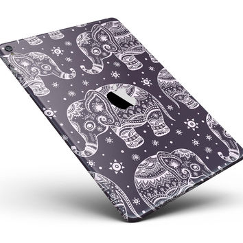 "Purple Sacred Elephant Pattern Full Body Skin for the iPad Pro (12.9"" or 9.7"" available)"