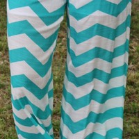 SALE Changing Who I Am Mint Chevron Pants
