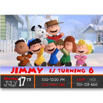The Peanuts Gang Birthday Kids Birthday Invitation Party Design