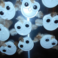 Baby Snowy Owl Magnets